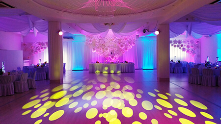 Oświetlenie dekoracyjne wesela